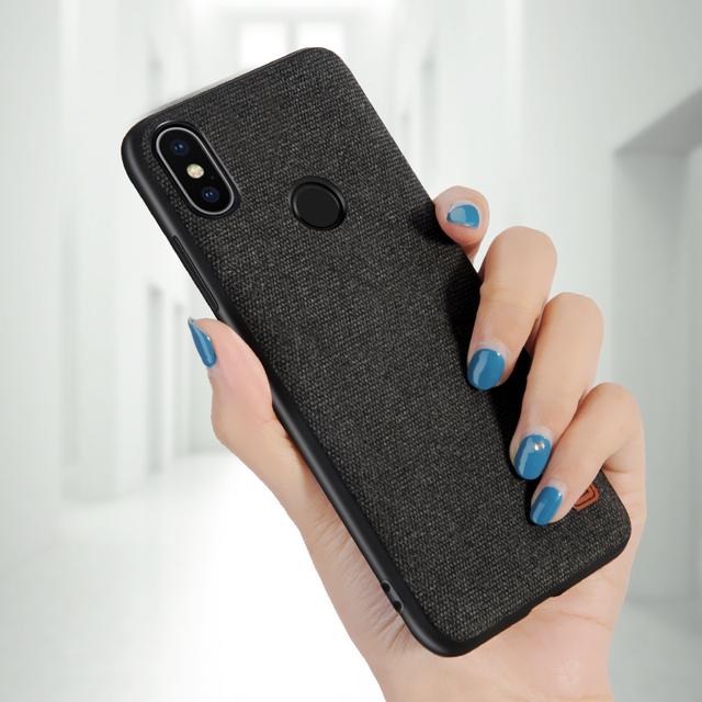 MOFi Xiaomi Redmi Note 5 Pro Luxury Fabric Shockproof Back Case Cover