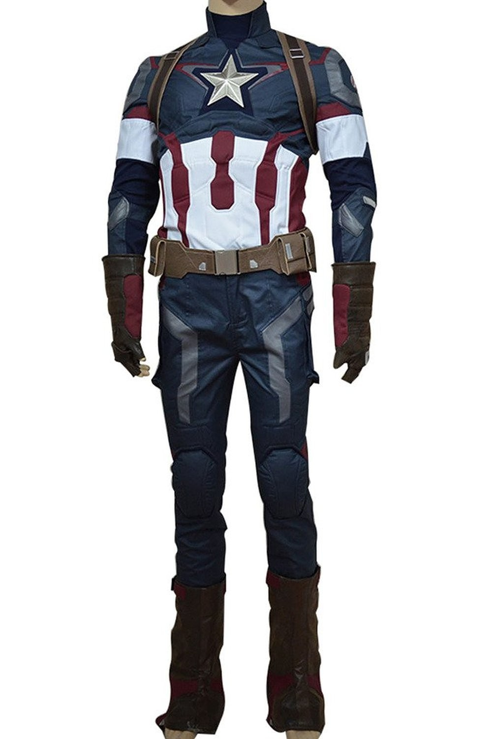Avengers Age of Ultron Captain America 3 Steve Rogers Cosplay Costume Battle Uniform