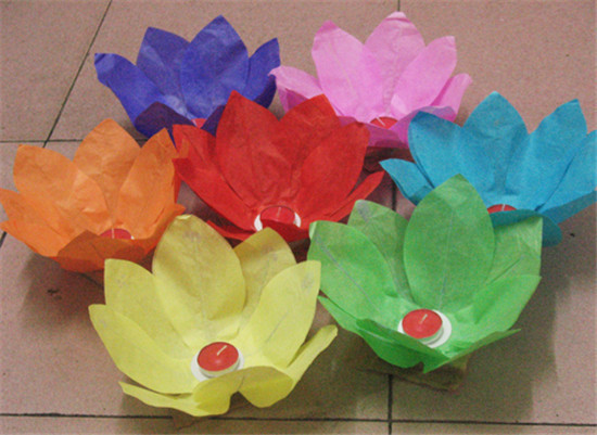 200 X Free Shipping New Chinese Paper Lotus Flower Floating Lanterns
