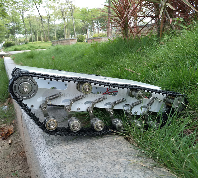 T750 Stainless Steel Tank Crawler Robot Chassis Mobile Smart Car Double Warehouse Design High Compatibility For DIY Robot