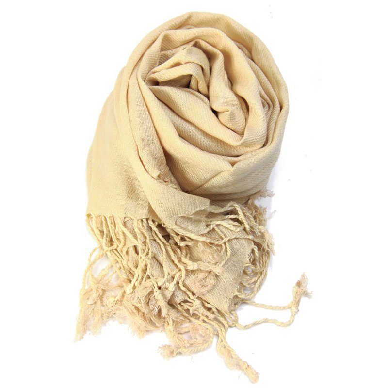 Women's Autumn Winter Pashmina Shawls   Scarves   Solid Cashmere   Scarves   Oversized Blanket   Scarf     Wrap   long Wool Tassel   Scarf