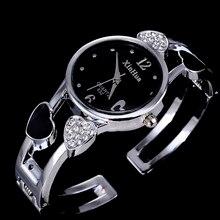 Women Luxury Bangle Watches Fashion Bracelet Ladies Watch Crystal Stainless Steel XINHUA Brand Wristwatch montre femme relojes