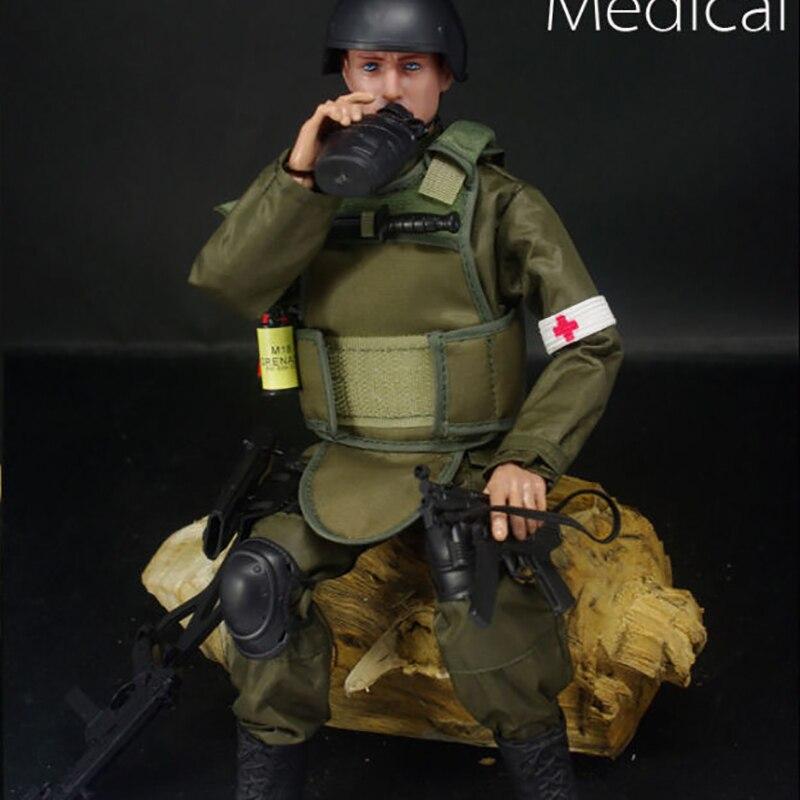 """1//6 NB04A Medic Soldier Military Combat Suit 12/"""" PVC Action Figure Model Dolls"""