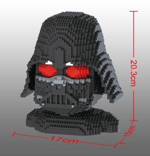 Luxury Big size StormTrooper Head Mini Blocks  Darth Vader Model Plastic Building Bricks DIY Assembly Toys for Children Boy Gift 1500 2200 pcs big size plastic cute cartoon designs of mini nano blocks diamond mini block toys for children diy game