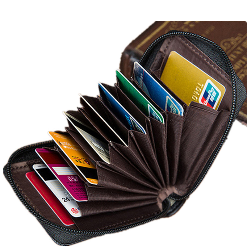 BATIFY Leather Wallet ID Credit Cards Holder Case Organizer