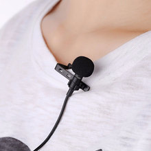 Hot sale Mini Wired Condenser Microphone for iphone Samsung Smartphone Clip-on Lapel Lavalier 3.5mm Jack Office Micro