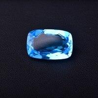 37 ct Голубой топаз 25,1 мм * 16,6 мм * 9,2 мм безупречное качество драгоценных камней.