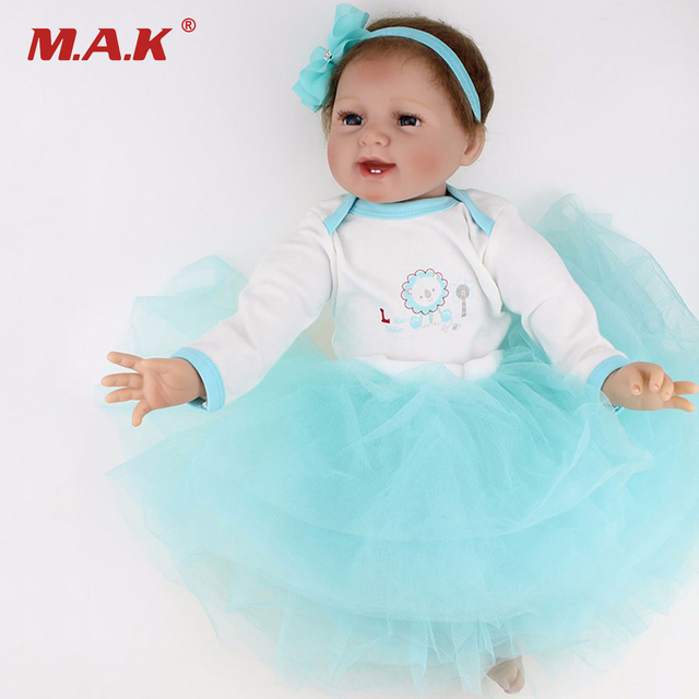 22 Inch  Doll Reborn Babies Realistic Baby Doll Lifelike Silicone Reborn Baby Toy For Kids Gift
