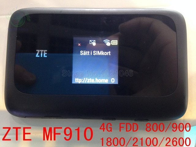 unlocked ZTE MF910 LTE 4g Mobile Hotspot wifi router 4g dongle 150Mbps mifi  router pk mf90 r212 mf91 mf93 mf80 mf95-in Networking from Computer &