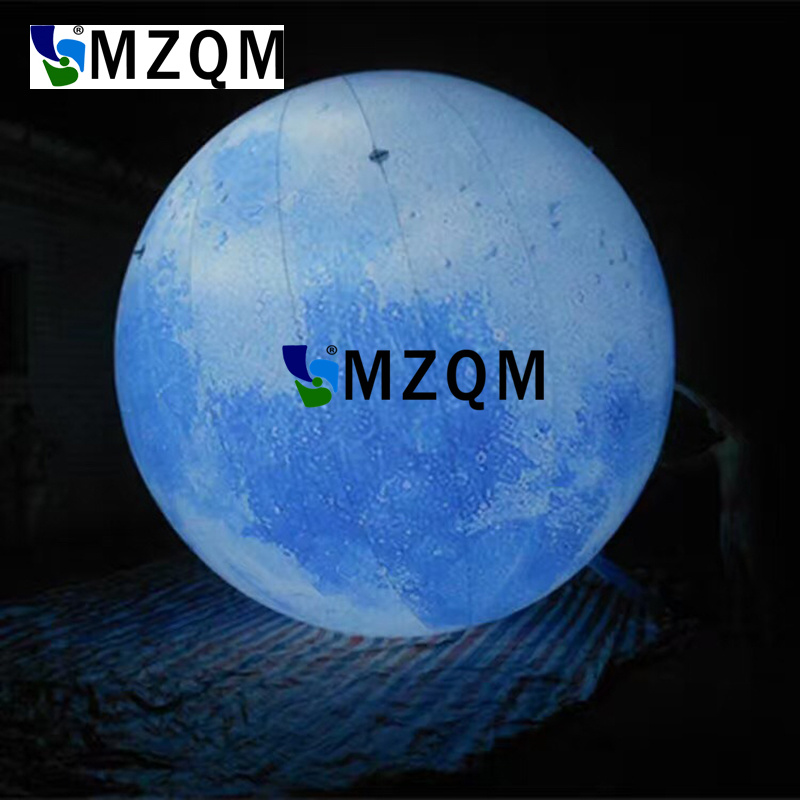 MZQM 2M led lighted inflatable moon ball for outdoor promotion