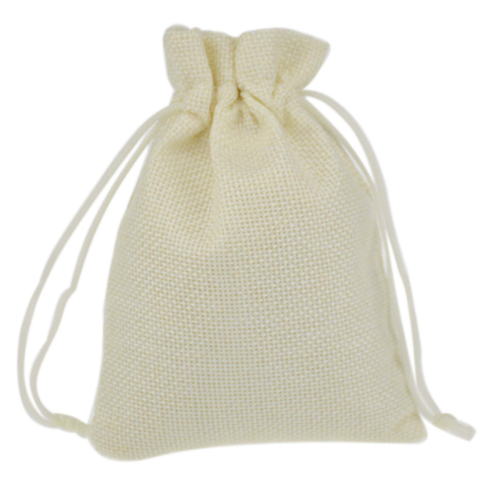 Faux Jute burlap Hessian Drawstring Gift wedding favor Gift Bags For ...