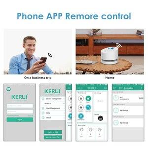 Image 5 - KERUI W2 planlı kol APP uzaktan kumanda kablosuz WiFi GSM PSTN ev güvenlik Alarm sistemi RFID kart ile Siren Alarm sistemleri