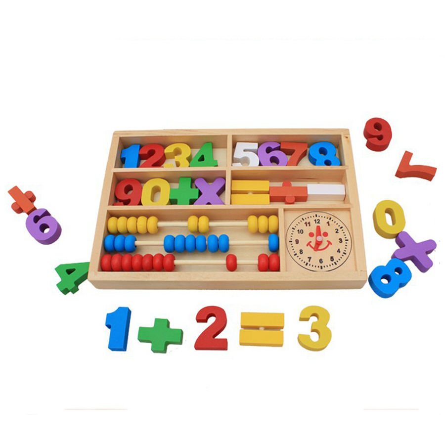 Baby Abacus Soroban Wooden Toys Montessori Materials Early Learning Education Math Toys Educational Wood Toy Child Preschool New
