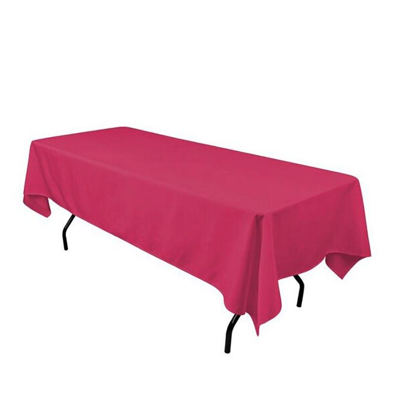 Couverture de Table simple de Polyester de nappe de Rectangle de Polyester pour la décoration de Banquet d'hôtel d'événement de mariages-in Nappes from Maison & Animalerie    3