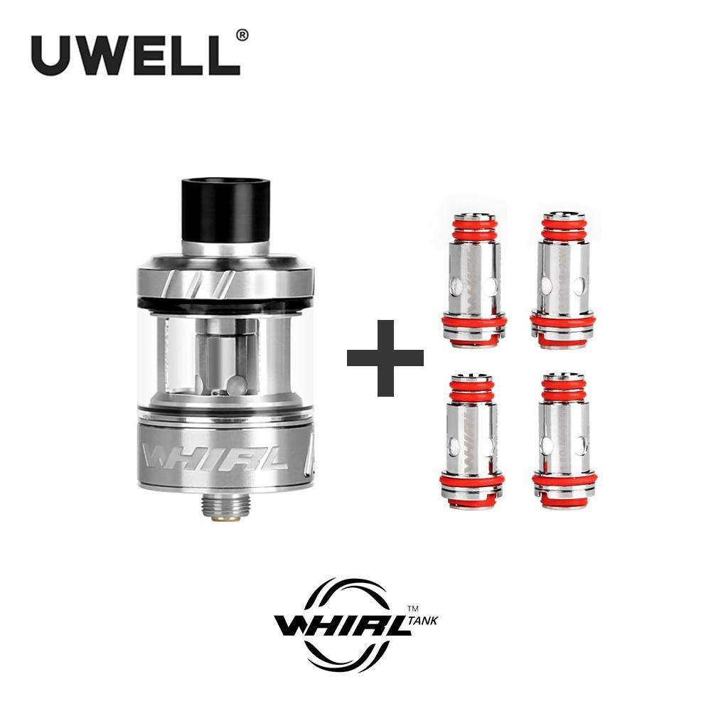UWELL Whirl Tank Vape Tank 3.5ml & 4 Pcs Whirl Tank Coil 0.6/1.8 ohm Electronic Cigarette SubTank &Coil  Vaping