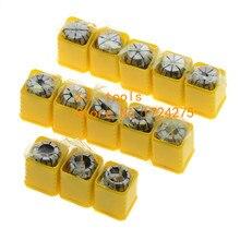 13 Pçs/lote ER11 Collet chuck cnc Spindle ER11 Pinça ferramenta torno titular ER11 Collet definir a partir de 1-7 MM para fresagem CNC espuma ferramenta