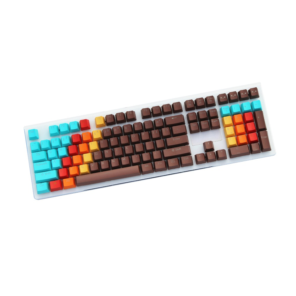 все цены на 1976 Retro style 108 Key Double-shot Backlight PBT OEM For cherry MX switches mechanical keyboard keycap Only sell keycaps онлайн
