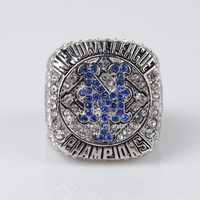 Replica 2015 Solid New York Mets Major Baseball Championship Ring Size 11