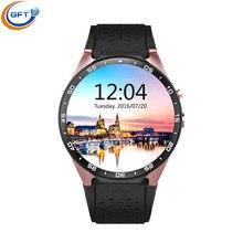 GFT KW88 3G wifi smart watch sim smartwatch smart gesundheit mit 512RAM + 4G ROM android5.1 unterstützung herz rate monitor smart uhr