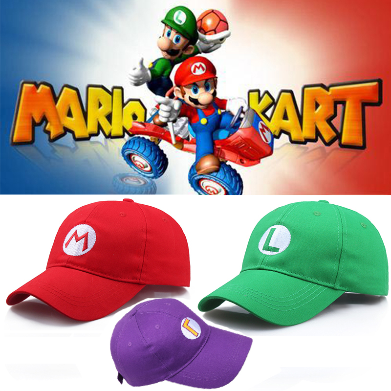 Super Mario Odyssey Cosplay Hat Luigi Bros Baseball Caps Anime Accessories Women Men Halloween Gifts Mario Cap(China)