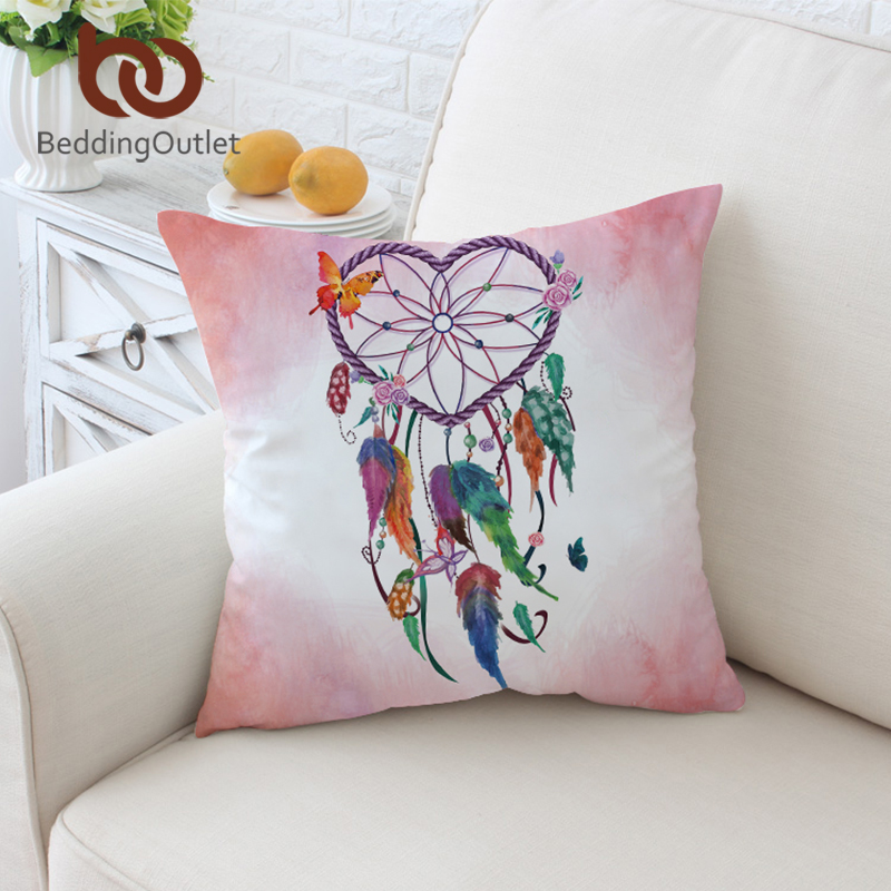 US SELLER decorative pillow cover American native dreamcatcher cushion cover