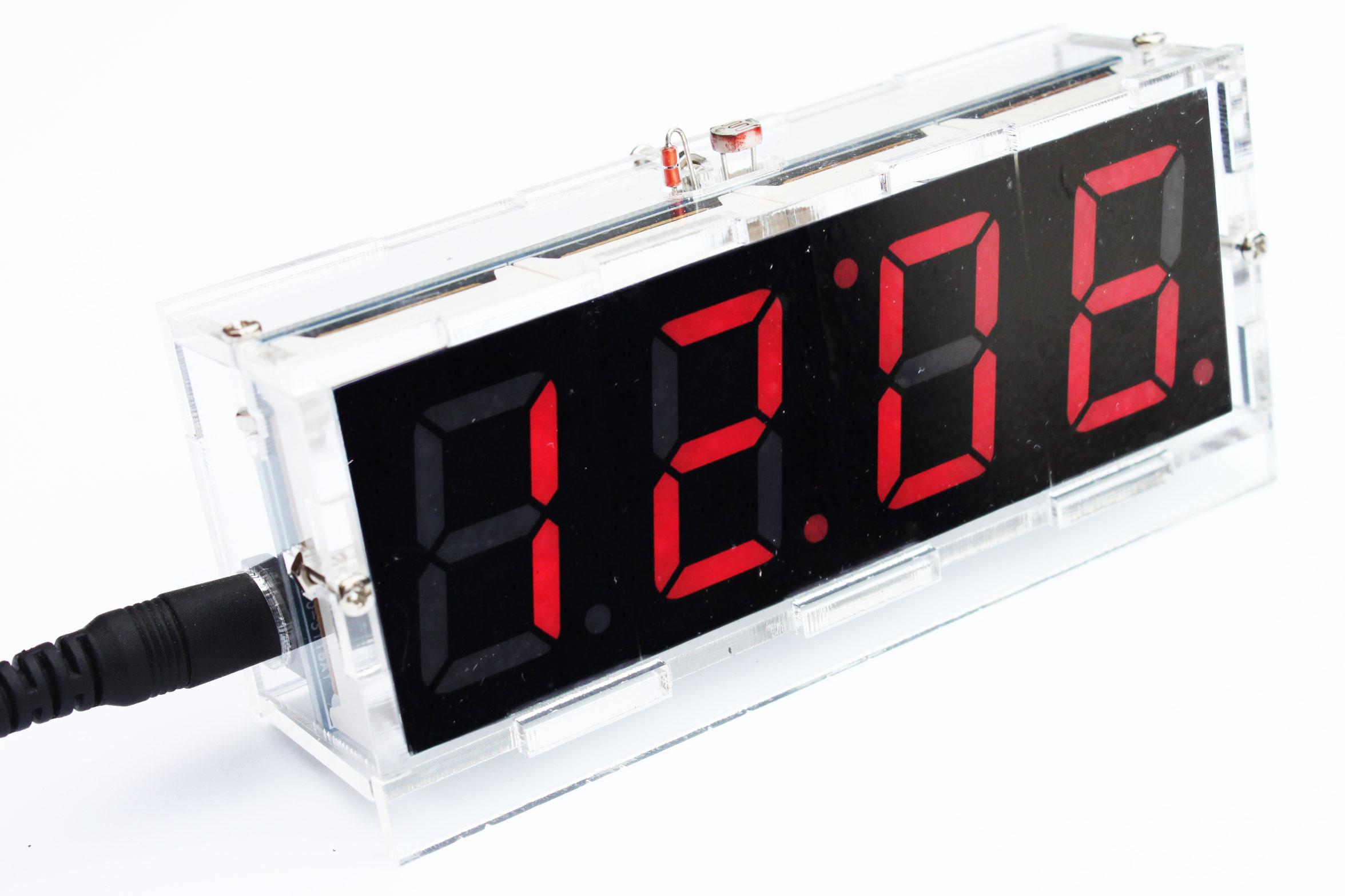DIY Kit Red LED Electronic Clock Microcontroller Digital ...