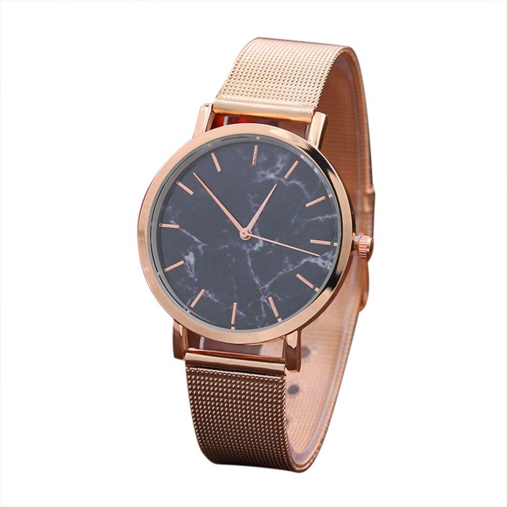 Women Watches 2018 New Brand Luxury Fashion Ladies Quartz Watch Clock Rose Gold Dress Casual Wristwatch Women Marble Surface