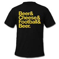 Beer Cheese Footballer Beer Men S T Shirt By American Apparel 100 Cotton Short Sleeve O