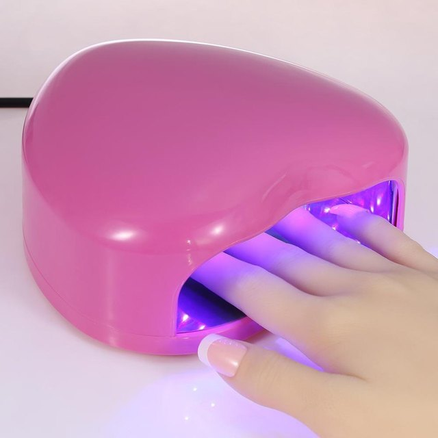 Mini 3W Heart Shaped Easy to Operate and One-Key to Turn on and Off Non-Harmful LED / UV Light Therapy Lamp Gel Nail Dryer