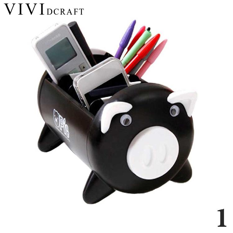 Vividcraft 1 pcs Pen Holder Desk Accessories Creative Kawaii Pig Stationery Storage Box Office Supplies Cartoon Desk Organizer creative diy paper desktop storage box office stationery pen holders pen storage rack desk organizer