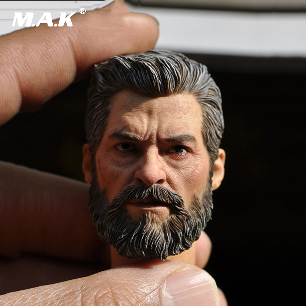 1/6 Scale Hugh Jackman Logan Head Sculpt Male Models fit 12 Bodies 1 6 scale wolverine 3 hugh logan head sculpt clone version with short hair for 12 inches male bodies dolls figures gifts toy