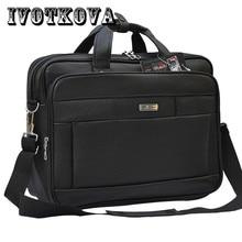 IVOTKOVA Pu Leather Casual Men Handbags Men Crossbody Bag Mens Travel Bags Laptop Briefcase Bag for Man Shoulder Purses