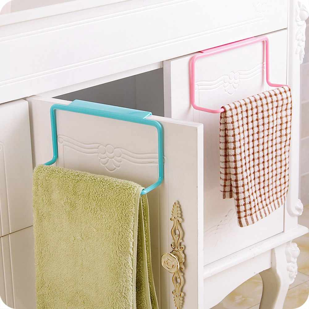 Towel sponge storage rack New Hanging Bathroom Kitchen Utensil Box Rag Storage Hanger Bar Hook Bathroom Kitchen Hooks 2019 Towel