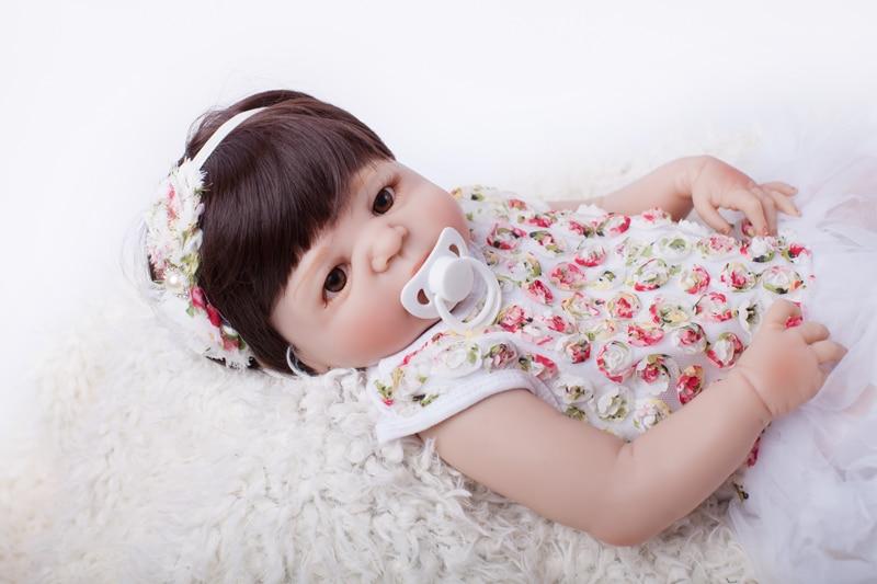 Full Body Silicone Reborn Baby Doll Toy 55cm Baby-Reborn Babies Dolls Lifelike Child Födelsedag Present Christmas Gift Play Hous