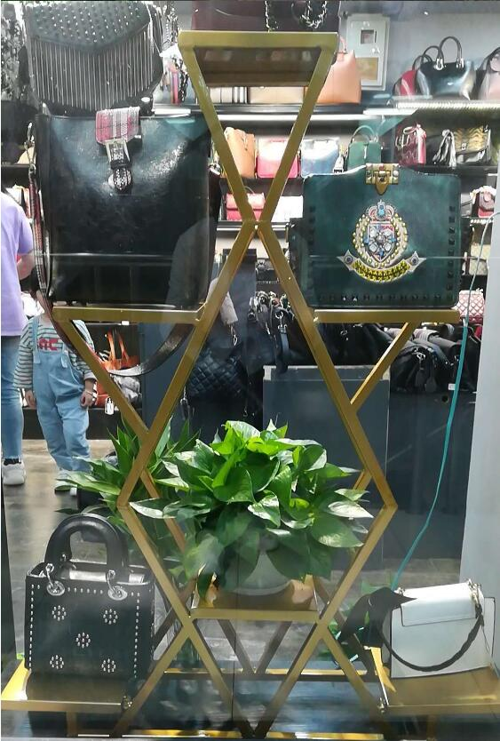 Tieyi витрина посылка стойка, ретро магазин одежды обуви крышка потока стол дизайн и расположение шкаф - 6