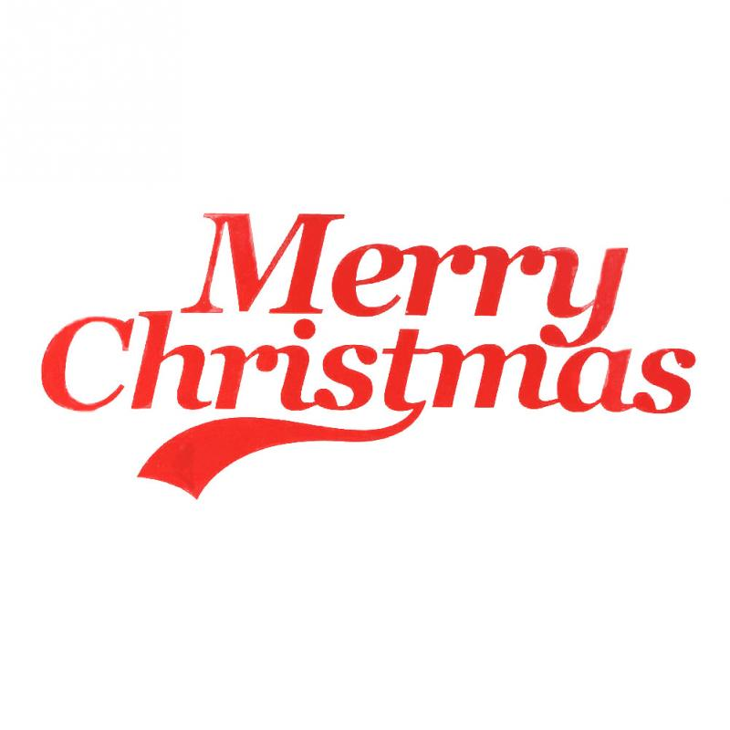 Car sticker Merry Christmas Words Style Greeting Car Body Decal PVC ...