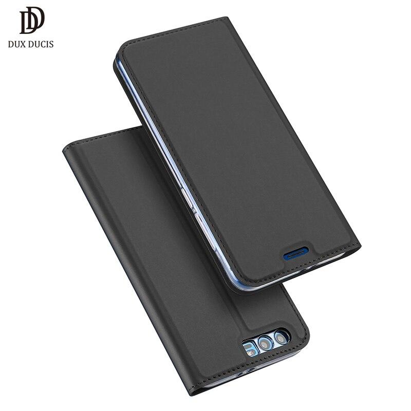 DUX DUCIS Caso de Couro Da Aleta de Luxo para Huawei Honra 9 Funda Carteira Livro Capa Protetora para Honor 9 5.15