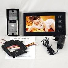 """Seguridad para el hogar 7 """"Pantalla Táctil de la pulgada TFT LCD de Color de Vídeo Puerta Timbre Del Teléfono Intercom Night Vision system Cámara Ojo de Interfono"""