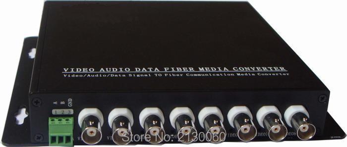 HD Video CVI Fiber Optical Converter, 8ch Hd 720P Video Fiber Optic Transmitter, Single-mode Single Fiber 20KM, FC Fiber Port