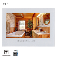 Souria 19 inch IP66 Waterproof Bathroom LED TV Waterproof Wall Mounted Flat Screen TV Black/White Shower TV