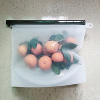 4Pcs 1500Ml Silicone Reusable Bag Ziplock Silicone Bag Reusable Silicone Food Bags Kitchen Organizador Food Sealing Storage Bag Saran Wrap & Plastic Bags     -