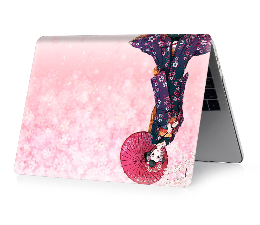 Image 4 - Kimono color printing notebook case for Macbook Air 11 13 Pro Retina 12 13 15 inch Colors Touch Bar New Air 13 or New Pro 13 15-in Laptop Bags & Cases from Computer & Office