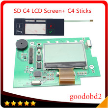цена на SD Connect C4 Stickers Labels +C4 LCD Screen for MB Star C4 diagnostics tools SD diagnostic tool MBB Compact 4 on the box pretty