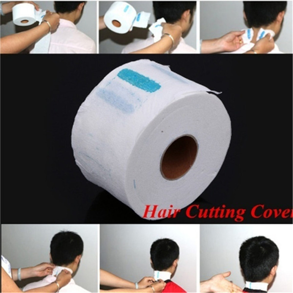 1Pcs/barber salon accessories Roll Hair Cutting Salon Neck Ruffle Roll Paper Disposable Hairdressing Collar Neck Covering Roll