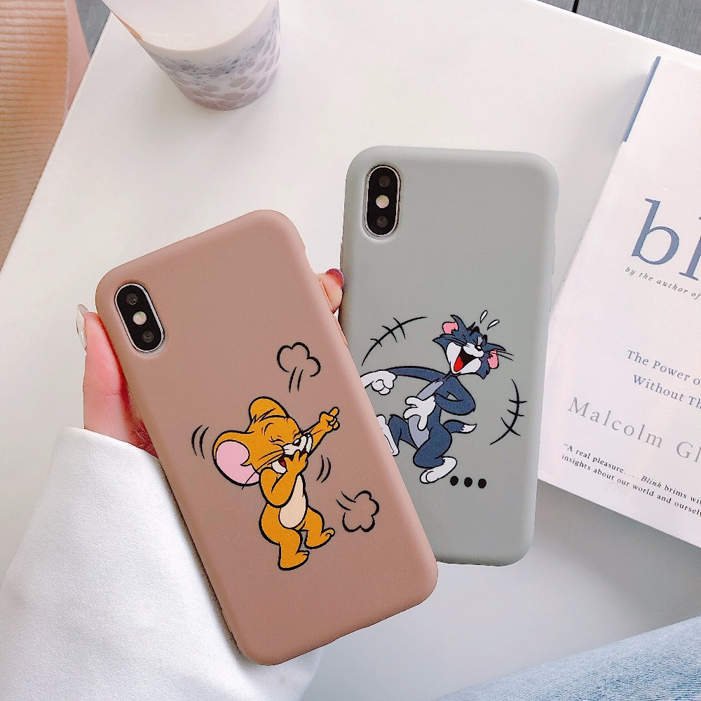 Cartoon Tom and Jerry For iPhone 6S 6 S 7 8 Plus Case Fundas