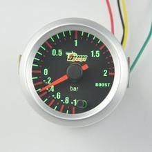 52 мм 7 цвет турбина манометр давления метр Красочные светящиеся boost gauge Can be set to 7 Цвет Подсветки бесплатная доставка