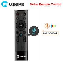 Voce di Controllo Remoto VONTAR Air Mouse 2.4GHz Senza Fili di Telecomando con la Girobussola Microfono Per Android TV Box T9 X96 mini