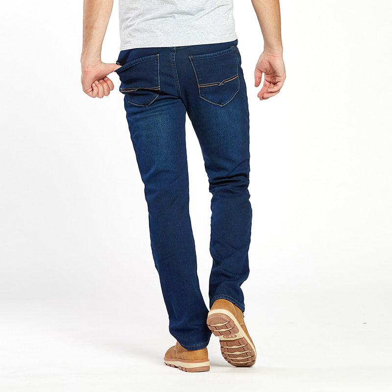 Thermal Warm Flannel Lined Jeans for Men 4