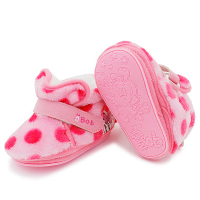 Shoes Infant Shoes First Walkers Winter Warm Shoes For Newborn Cute Princess Elegant High Quality Baby Shoes Winter 70A1063