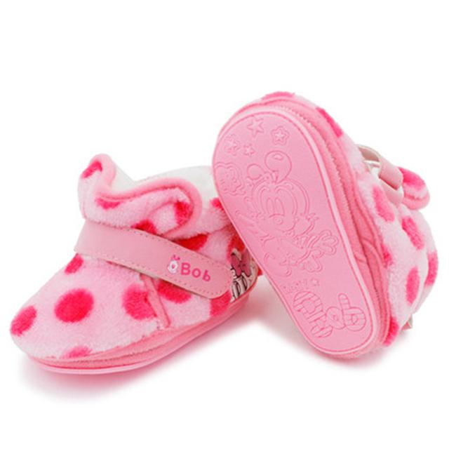 Zapatos Zapatos Infantiles Primeros Caminante de Invierno Cálido Zapatos Para Recién Nacido Lindo Princesa Elegante de Alta Calidad Zapatos de Bebé de Invierno 70A1063